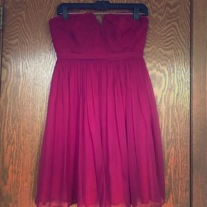 J.Crew wild beet strapless bridesmaid dress